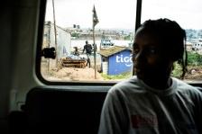 BUKAVU, REPUBLIQUE DEMOCRATIQUE DU CONGO. AVRIL 2016. Sandra, victime de viol prise en charge par la fondation Panzi, dans les faubourgs de Bukavu. La fondation Panzi prend en charge des femmes victimes de viol et developpe un programme de rehabilitation par le sport.