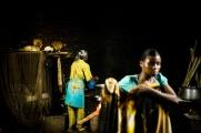 BUKAVU, REPUBLIQUE DEMOCRATIQUE DU CONGO. AVRIL 2016. Les cuisines de la fondation Panzi. La fondation Panzi prend en charge des femmes victimes de viol et developpe un programme de rehabilitation par le sport.