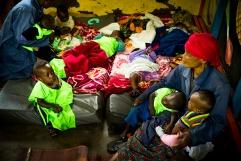BUKAVU, REPUBLIQUE DEMOCRATIQUE DU CONGO. AVRIL 2016. La creche de l hopital de Panzi accueille des enfants du viol. La fondation Panzi prend en charge des femmes victimes de viol et developpe un programme de rehabilitation par le sport.