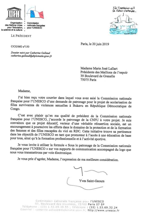 Patronage CNF de l'UNESCO